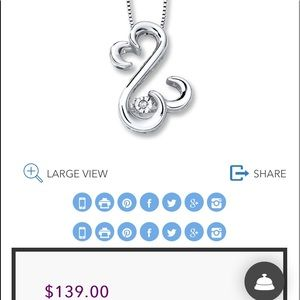 Sterling Sliver Kay Jewelers Open Heart collection